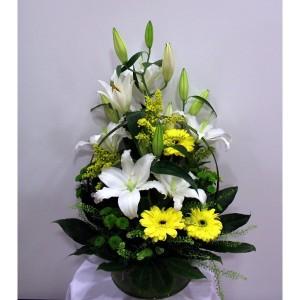 cesta-de-flores-lilium-oriental-gerbera